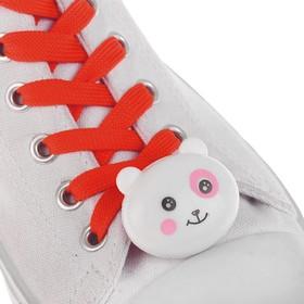 Шнурки световые «Мордочка», 2 шт., длина шнурка 120 см, цвет красный Ош