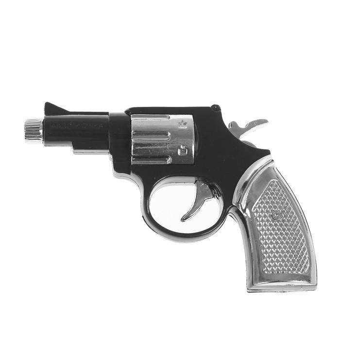 Прикол-шокер Пистолет, с фонариком, цвет чёрный