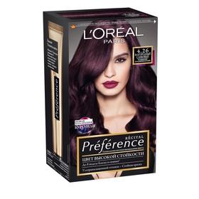 Краска для волос L'Oreal Preference Recital «Благородный сливовый», тон 4.26, насыщенный холодный фиолетовый