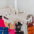 Вешалка для ремней 11×11×10 см, 20 крючков, цвет МИКС - Фото 4