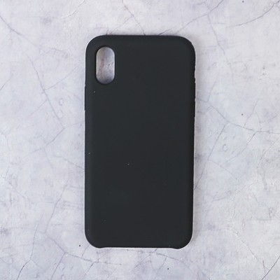 Чехол LuazON силиконовый IPhone X, чёрный