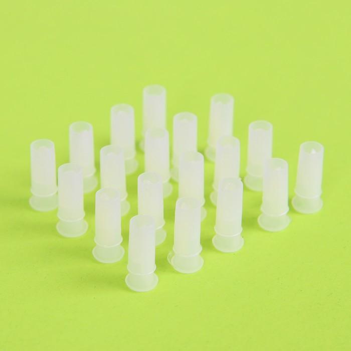Пищалка воздушная, набор 20 шт, размер 1 шт: 1,5?0,7 см, 2 звука