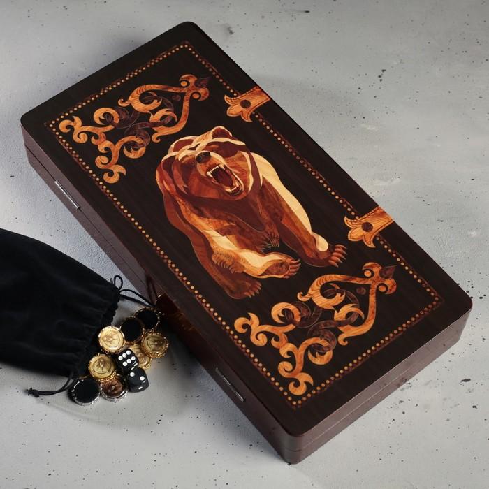 Нарды подарочные «Медведь», 24 х 12 см
