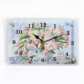 """Часы настенные, серия: Цветы, """"Цветы в вазе"""", 20х30 см"""