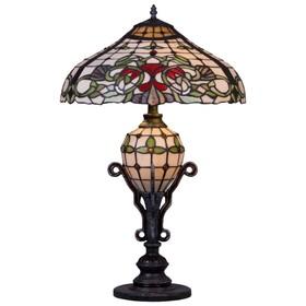 Настольная лампа 'Драмурга' 2+1x60+25Вт E27+E14 разноцветный Ош