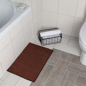 Коврик Доляна «Букли», 40×60 см, цвет коричневый