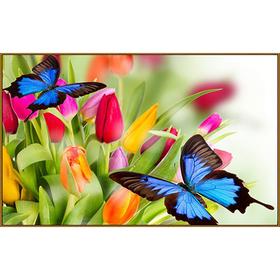 Алмазная мозаика «Бабочки в тюльпанах», 33 цвета