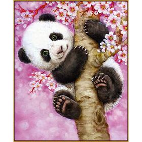 Алмазная мозаика «Весёлая панда», 21 цвет