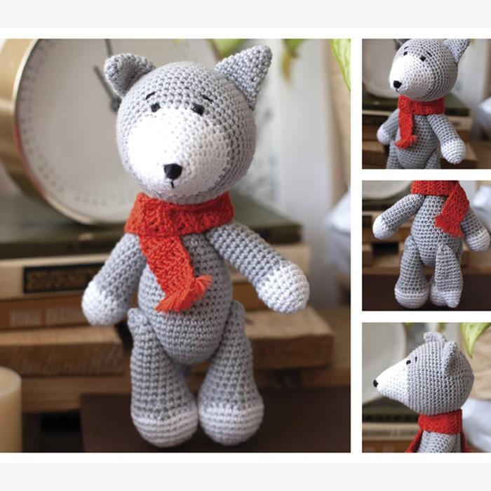 Амигуруми: Мягкая игрушка «Волчонок Дориан», набор для вязания, 10 × 4 × 14 см