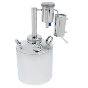 Дистиллятор «Лидер-3», 16 л, большой разборный сухопарник со сливом, термометр