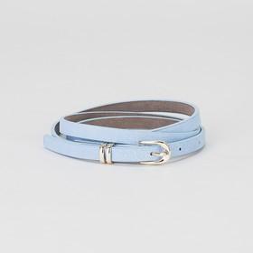 Ремень, пряжка и хомут золото, ширина - 0,8 см, цвет голубой Ош