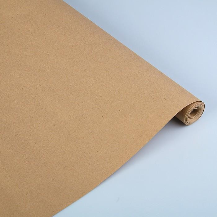 Бумага упаковочная крафт без печати, 70 г/м² ,0,72 х 50 м