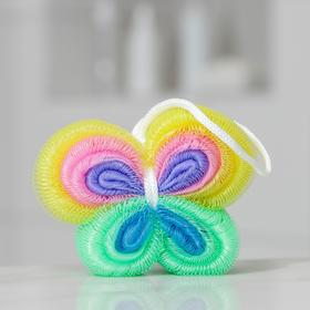 Мочалка для тела Доляна «Бабочка», 30 гр, цвет МИКС Ош