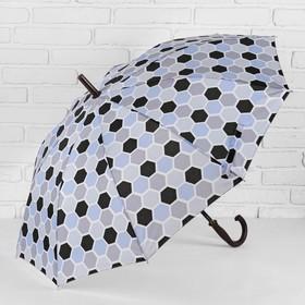 Зонт - трость полуавтоматический, 10 спиц, R = 51 см, разноцветный Ош