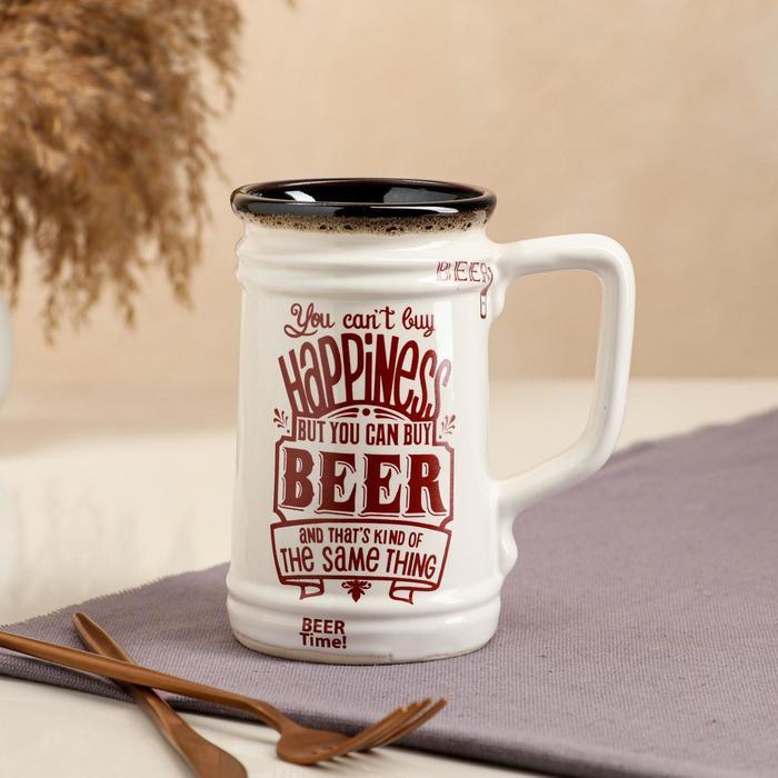 """Бокал """"Beer"""", прямой, 0.6 л, микс"""