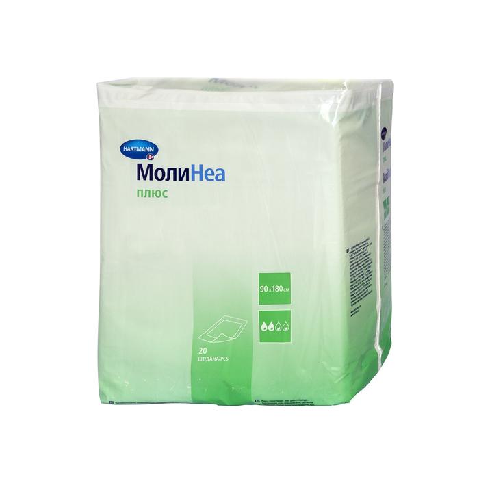 Впитывающие пеленки MoliNea plus, размер 90х180 см, 110 г/м2, 20 шт