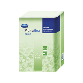 Впитывающие пелёнки MoliNea plus 60х90 см, 110 г/м², 5 шт