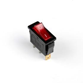Кнопка - выключатель, прямоугольный, с подсветкой Ош