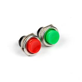 Кнопка - выключатель, без подсветки, МИКС Ош