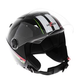 Шлем HIZER 217-2, размер L, черно/белый Ош