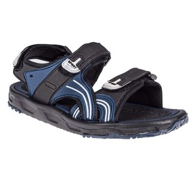 Сандалии детские, цвет чёрный/синий, размер 41 Ош