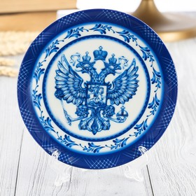 Тарелка сувенирная «Герб» Ош
