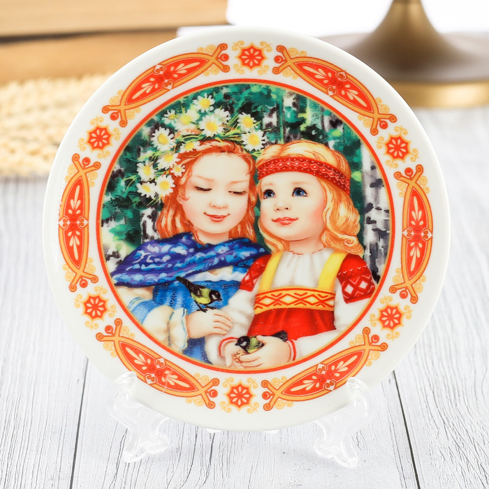 Тарелка сувенирная Девочки