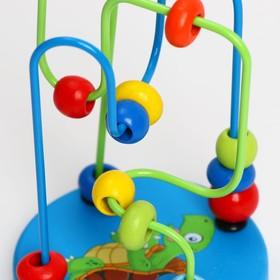 Серпантинка-лабиринт с пластиковыми бусинами «Черепаха» Ош