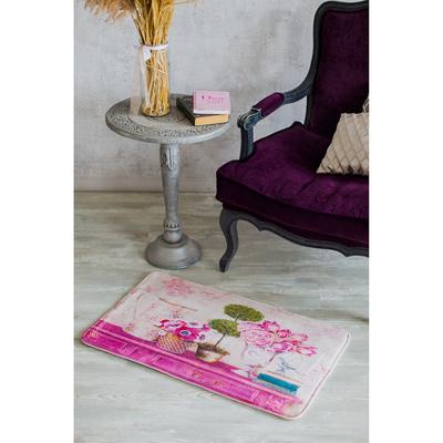 Коврик для дома «Натюрморт», 45×80 см, цвет розовый - Фото 1