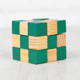 Головоломка-мини «Куб», зелёный Ош