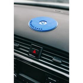 Коврик противоскользящий с номером телефона, размер 21 см, синий, Ош