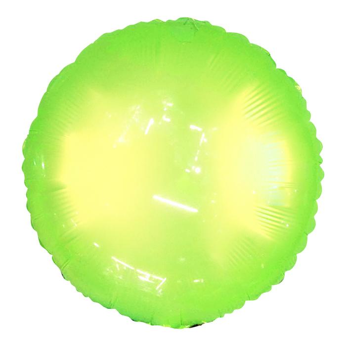 Шар полимерный 18 Неон, круг, цвет зелёный