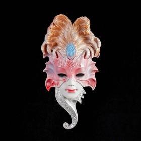 Венецианская маска 'Сова', 27 см,белая МИКС Ош