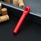 Штопор, 11,5×1 см, цвет красный