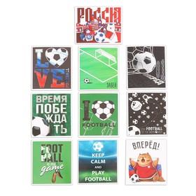 Наклейки стикеры Football, 6 × 7 см, 10 шт Ош