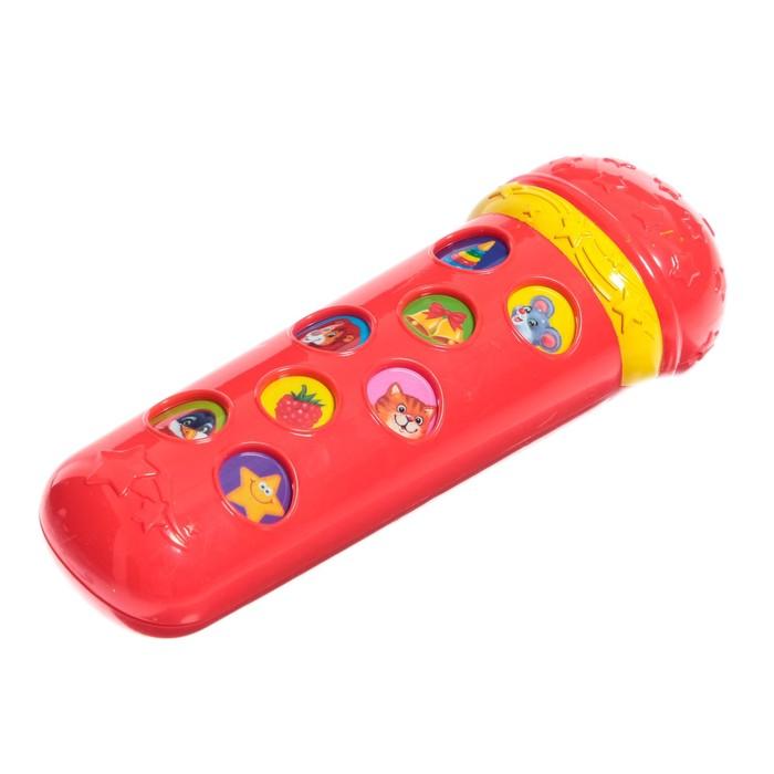 Музыкальная игрушка «Микрофон Я пою», красный, 16 песенок