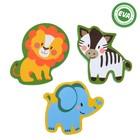 Набор игрушек для ванны «Зоопарк»: фигурки-стикеры из EVA, 3 шт.