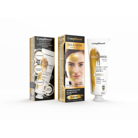 Актив-маска для лица Compliment «Тонус и упругость», антивозрастная, золотая, 80 мл