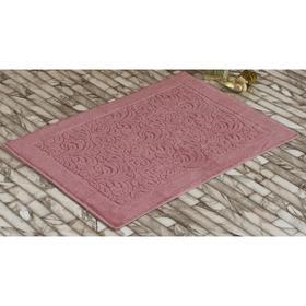 Коврик махровый Esra, размер 50х70 см, цвет розовый