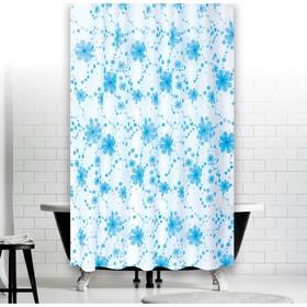 Штора для ванной Drop, размер 180х200 см V2