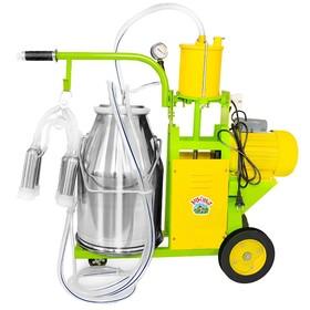Доильный агрегат, 25 л, поршневой, последовательно выдаивает 8-10 коров, силикон Ош