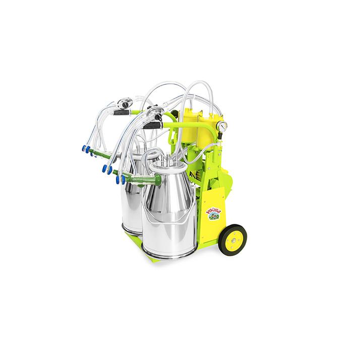 Доильный агрегат, тандем, 25 л, последовательно выдаивает 16-20 коз, силикон
