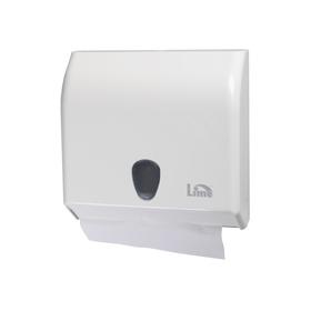 Диспенсер для бумажных полотенец Lime Prestige, V-укладка, белый