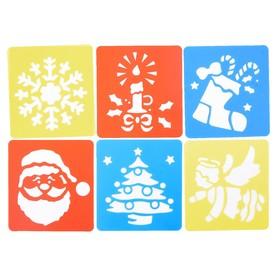 Трафареты 6 шт «Новогодние символы» лист бумаги Ош