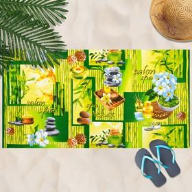 Вафельное полотенце Релакс 80х150 см, разноцветный,хлопок 100 %, 160г/м² Ош