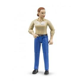 Фигурка женщины в голубых джинсах Bruder