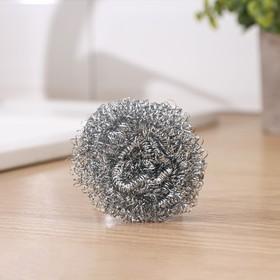 Губка для мытья посуды металлическая Доляна, спираль, 8 гр
