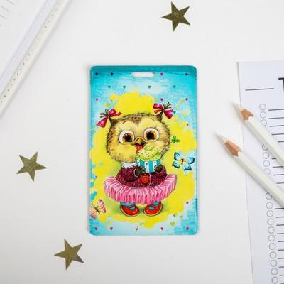 Чехол для бейджа и карточек «Совёнок»