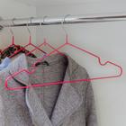 Вешалка-плечики для одежды Доляна, размер 40-44, антискользящее покрытие, цвет розовый - Фото 3