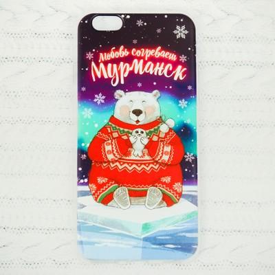 Чехол для телефона iPhone 6 «Мурманск. Медведь» - Фото 1